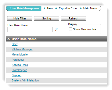 Overview new Function User Roles in Web Client